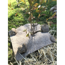 Eco-Wool weed mat square 450mm x 450mm