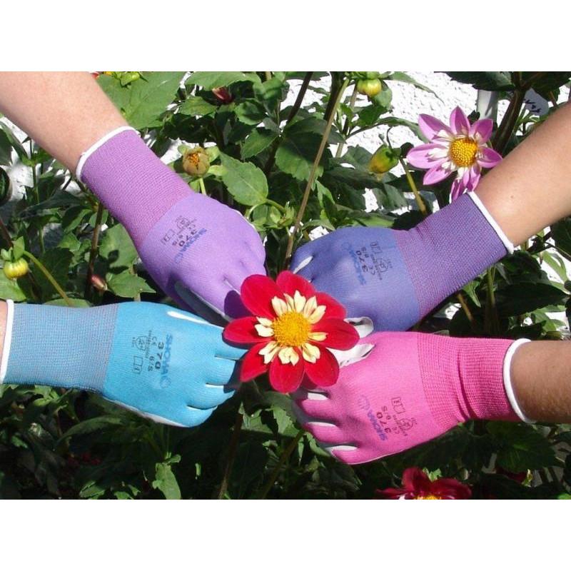 Garden Gloves Showa Large Blue Growing Things