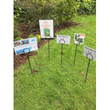 Real-Estate Sign Holder -spike lawn -pig tail loop