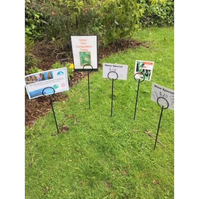Real-Estate Sign Holder -spike lawn -pig tail loop